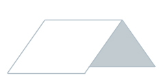 Illustration von Steildach mit weißer Dachfläche für die Suche nach einem Dachdecker